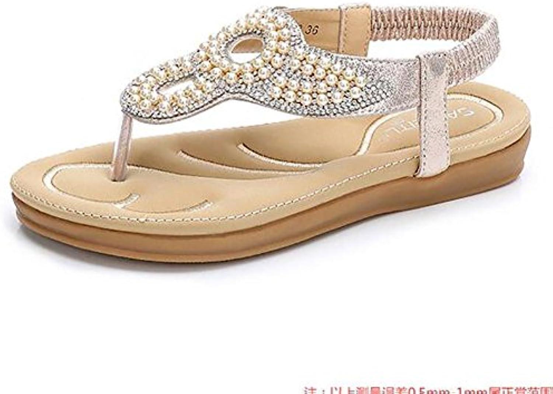 SHANGXIAN Verano Playa Sandalias Correa De Tobillo Chanclas Zapatos Planos , white , 41