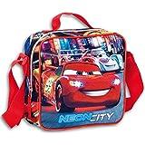 Cars - Mi merienda, bolsa cuadrada, color azul y rojo (Montichelvo 21399)