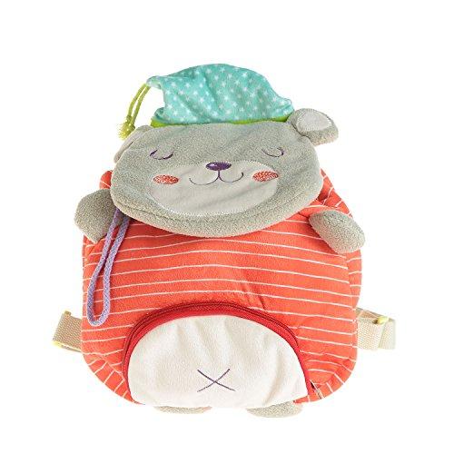 er, Schultasche Rot Bär für Kleinkinder von 1 Jahrige und Mehr, Lassig Kinderrucksack Rot/Rucksack Kindergarten Rucksack/Kinder Rot/Rucksack Madchen/Schultasche Jungen/Baby Tasche (Nehmen Sie Ihre Canvas Taschen)