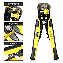 DANIU Stripper Cutter AWG10-24 Professional Wire Stripper Plier Self-Adjusting Automatic Cutter