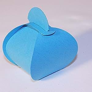 Contenant dragées boite berlingot - 5X5.5cm - turquoise - paquet de 10