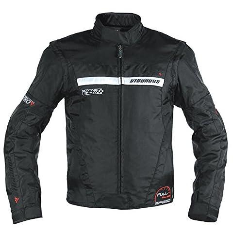 Blouson Oxford Nylon Homme Textile CE Protections Thermique Moto Noir
