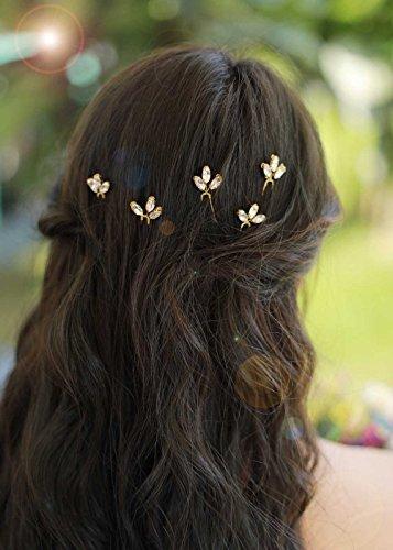gracewedding Brautschmuck Kristall Haarnadeln Damen Kopfbedeckung Hochzeit Haar accessories-bridal Haar Zubehör Vintage Hochzeit Haar Schmuck für Party und abends