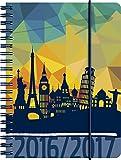 Brunnen 107297127 Schülerkalender/Schüler-Tagebuch (2 Seiten = 1 Woche, 12x16cm (A6), PP-Einband Travel, Kalendarium 2016/2017)