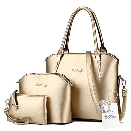 Borse a tracolla Yoome Crossbody borsa a tracolla borsa borsa borsa da trucco borse da trucco borse casual - rosa Oro