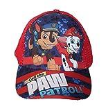 Paw Patrol Nickelodeon Jungen Cap Kappe Schirmmütze (52, Rot 2)