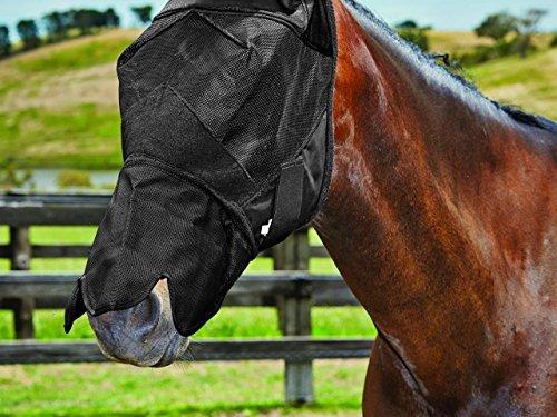 Weatherbeeta Maschera anti mosche con naso: Pony, cavallino, cavallo fittissima Extra full, sangue caldo