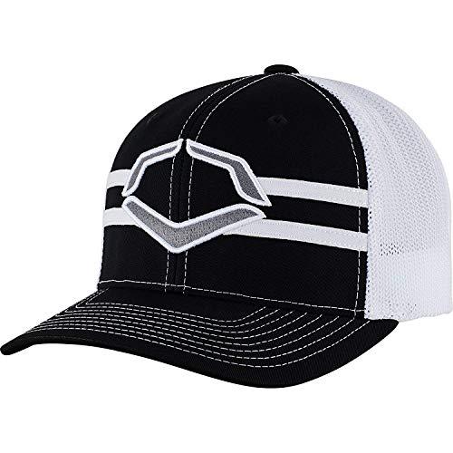 WILSON Sporting Goods Evoshield Tribüne Flexfit Hut, Schwarz/Weiß, Large/X-Large(7 3/8-7 5/8)
