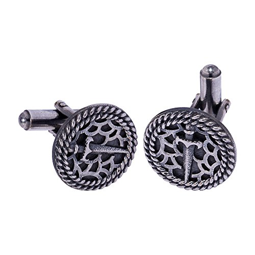Voylla Fashion Silver Metal Cufflink For Men  available at amazon for Rs.266