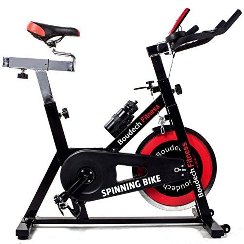 Boudech Bici da Spinning Professionale con volano da 18Kg - Cyclette da Corsa per Allenamento Fitness Cardio *BICISPEED*