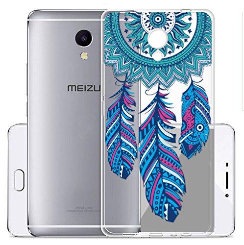 Cover Per Meizu M5S 5,2 pollici,Sunrive® Custodia Case in molle Trasparente TPU silicone Morbida Flessibile Pelle Antigraffio protettiva(tpu Dreamcatcher)