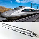#6: Bullet Train Toys, CRH Passenger Train Set Metro Subway Railway Model Toy Magnetic Metal Pullback travel Trian Diecast Toy play Gift For Kid Boys & Toddlers