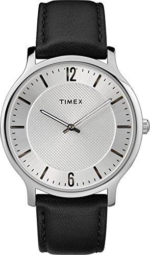 Timex Reloj Analógico para Unisex Adultos de Automático con Correa en Cuero TW2R50000