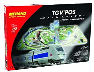 MEHANO - T738 - Modélisme Ferroviaire - Coffret de Train TGV Pos