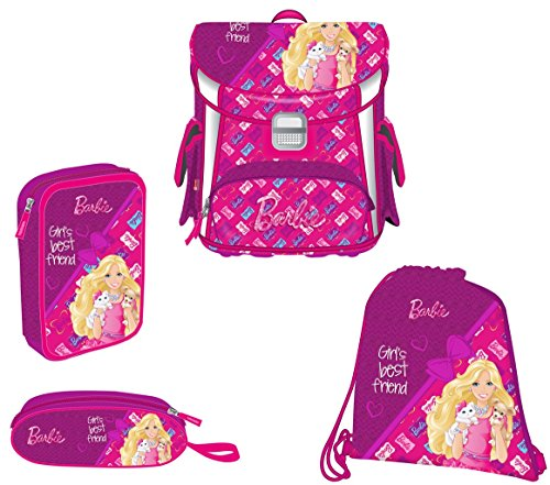 Target Square Set 4in1 Barbie Bf Schulrucksack, 38 cm, 12 liters, Pink (Rosa)