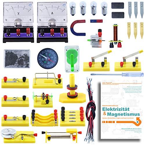 Teenii STEM Physik-Wissenschaftslabor Grundlegende Schaltungslern-Starter-Kit Elektrizität und Magnetismus für Kinder, Junior, Senior High School-Schüler Elektromagnetismus Elementare Elektronik