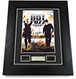 Hot Fuzz Signed + Hot Fuzz Film Cells Framed