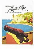 Half a Donkey Puerto Rico – Retro Style Travel Poster Large Cotton...