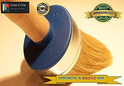 #BB60 Pinsel für Kalkfarbe, Naturborsten/ Synthetikborsten, rund, für Möbel, 60mm, XXL