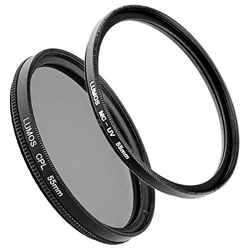 LUMOS PRO Zubehör Filter Set 55mm kompatibel zu Sony SEL1670Z Kit Objektiv z.B. an der Alpha 6000 6300 6500 / 55 mm Polfilter zirkular & slim MC UV Filter mehrfach vergütet