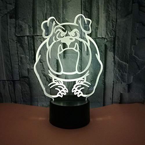 3D Lampe Licht Nachtlicht Illusion Jungen Mädchen Baby Bulldogge 7 Farben Kinder Led Touch Fernbedienung Tisch Schreibtisch Lichter Farbwechsel Usb Geburtstagsgeschenke Optische Dekoration Lampen