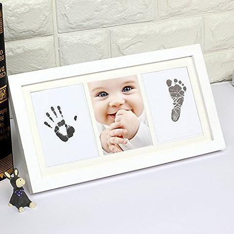 Hense Beautiful Baby Hand und Fußabdruck Bilderrahmen Kit für Jungen,