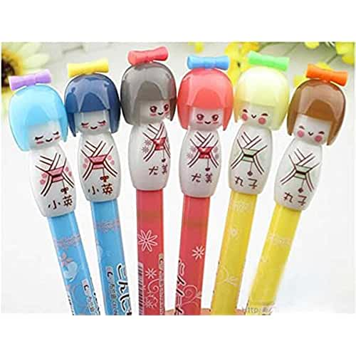 galeria de dibujos kawaii Rashen(TM) 6 Cute Creative Gel Ink Pen/ball Point/ Rollerball Pens With 6 Refills Japanese Girl