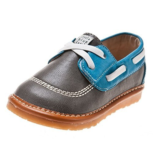Little blue lamb squeaky chaussures bleu, gris, mocassins femme