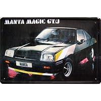 Cars Deutschland Cartel de chapa Opel Manta Magic GT/J