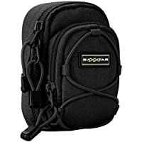 BAXXTAR NEW V4 (L) Digital Camera Bag Case (black) for Panasonic Lumix DC TZ200 TZ90 DMC TZ100 Canon PowerShot SX730 G7 X Nikon CoolPix W100