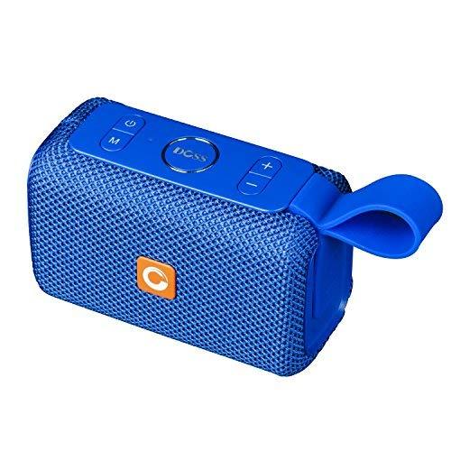 DOSS Mini Enceinte Bluetooth Portable,Waterproof Haut-Parleur sans Fil,Basses Puissantes, Étanche pour Piscine & Plage IPX6, Bleu
