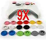 Veetop® 9 sets X Thumbstick Stick Grip Case for PS4 PS2 PS3 XBOX 360 Xbox One controller-Wholesale Bulk Pack-9 colors