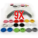 18 Capuchons Joystick silicone/Controller Analog Stick /Bouchons manette Consoles de jeux Accessoires pour Xbox One, PlayStation, Nintendo Wii. Veetop super Thumb grip caps /Thumbsticks pour les controleurs PS4 PS2 PS3 XBOX 360 XBOX One Wii U. Set 9 paires