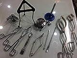 Vaso termo pinzas Tubo de ensayo soporte espátula laboratorio kit set de 13