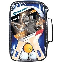DONIC-Schildkröt Set de tenis de mesa hobby para 2 jugadores 2 raquetas 3 bolas en bolsa, 788602