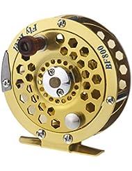 Lixada Moulinet de pêche /bobine pêche en tout métal /Fly Fish Reel Ancien navire BF800A de roue de pêche sur glace 0,5 mm / 300m 1: 1