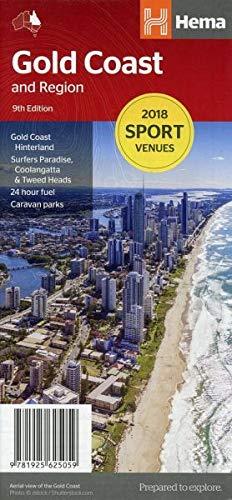 Stadtplan Gold Coast and Region: Gold Coast Hinterland Surfers Paradise, Coolangatta & Tweed Heads 24 hour fuel Caravan parks