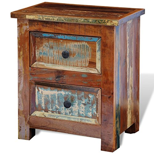 vidaXL Vintage Nachttisch Holz recycelt Kommode Konsole Nachtschrank Handarbeit