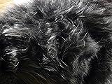 Fabrics-City Tessuto in pelliccia sintetica a pelo lungo, venduto al metro, 2707 grigio