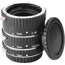 BlueBeach® Metallo AF Macro Extension Tube Ring Set (13mm, 21mm, 31 millimetri) per Canon EOS EF / EF-S Lens e DSLR Corpo fotocamere digitali reflex