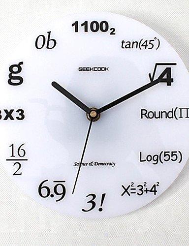 AG Wand-dekorative Uhr, Wanduhr für Zuhause, rund Modern/Contemporary/Traditional/Country/Casual/Retro/Büro/Business-Wanduhr, Personen/Ferien/Häuser / , Wohnzimmer-Uhr