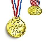 12 Kids School Sports Gold Reward Winner Medals