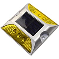 Amarillo aluminio solar 6-LED al aire libre Camino Entrada Dock camino terreno luz lámpara