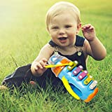 BonZeaL 5 Note Blue Xylophone Toy Caterpillar Learning Educational Music Instrument Toy