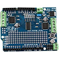 Delicacydex Motor Azul Durable liviano/Stepper / Servo/Robot Shield para Arduino v2 con PWM Driver Shield 68 x 52 x 20 mm