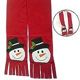 Zoylink Weihnachtsschal Feiertags Schal Netter Schneemann Muster Warmer Schal mit Taschen