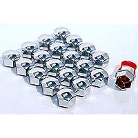 20pezzi Universale 17mm tappi per bulloni e dadi ruota in lega Schermo Covers effetto cromato per