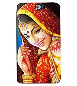 Omnam Girl In Bridal Pose Printed Back Cover Case For HTC One A9