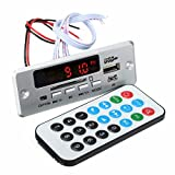 ILS - DC 12V/5V MP3 decodifica Consiglio LED USB AUX Radio amplificatore FM Bluetooth con telecomando