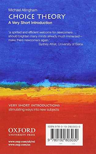 Choice Theory: A Very Short Introduction (Very Short Introductions)
